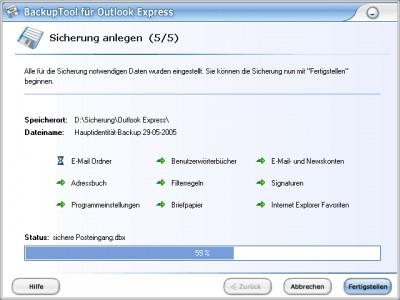 BackupTool für Outlook Express 3.4.90.142 screenshot