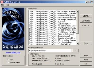 Bad CD Repair Pro 4.14 screenshot