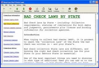 Bad Check Laws NSF Checks screenshot