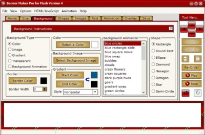 Banner Maker Pro for Flash 4.00 screenshot