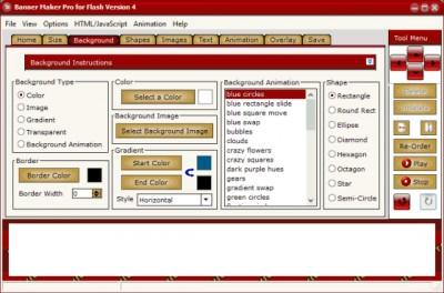 Banner Maker Pro for Flash 4.00 screenshot