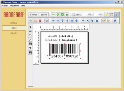 Barcode Forge 4.5 screenshot