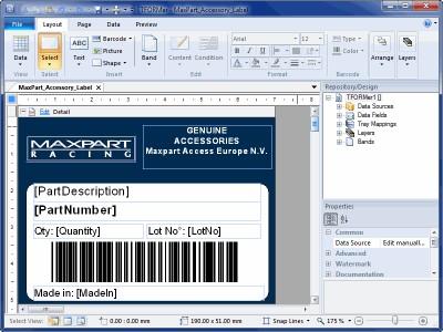 Barcode Label Printing Software TFORMer 8.0.0 screenshot