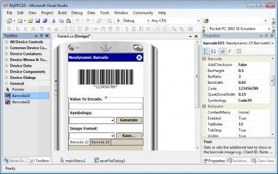 Barcode Prof. for .NET Compact Framework 2.0 screenshot