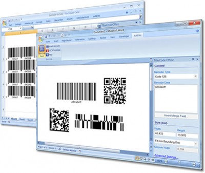 Barcode Word/Excel Add-In TBarCode Office 10.5.5 screenshot