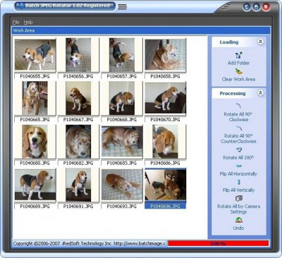 Batch JPEG Rotator 2.30 screenshot