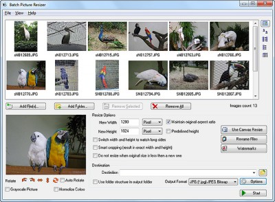 Batch Picture Resizer 4.0.4 screenshot