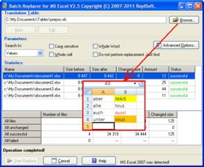 Batch Replacer for MS Excel 2.5 screenshot