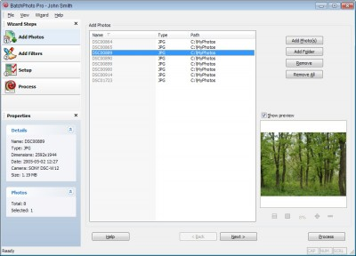 BatchPhoto Lite 2.3.2 screenshot