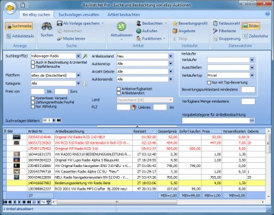 BayWatcher 8.05 screenshot