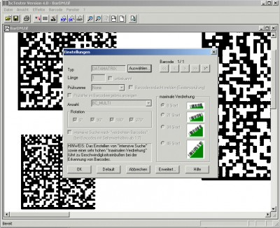 bcTester Barcode Reading and Testing 4.1.0.1 screenshot