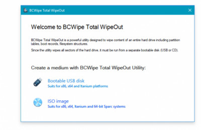 BCWipe Total WipeOut 4.1.02.0 screenshot