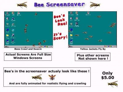 Bee Screensaver 11.0 screenshot