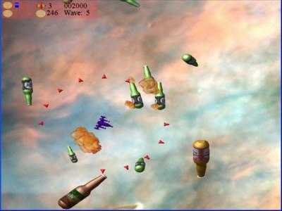 Beer Asteroids, Invaders, and Blaster 1.2 screenshot