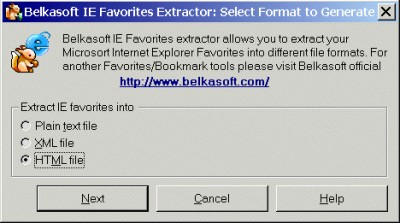 Belkasoft IE Favorites Extractor 1.01 screenshot
