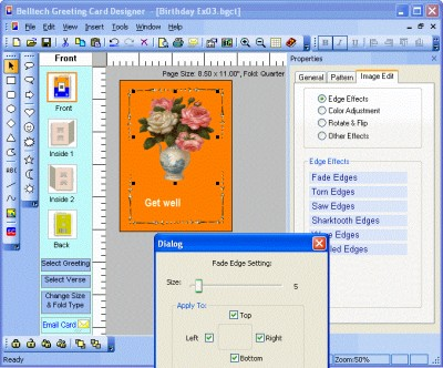 Belltech Greeting Card Designer 5.5 screenshot