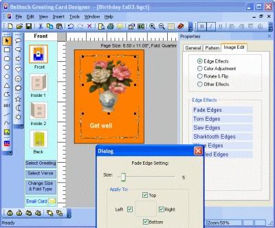 Belltech Greeting Card Designer 5.5 screenshot