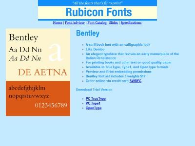 Bentley Font Type1 2.00 screenshot