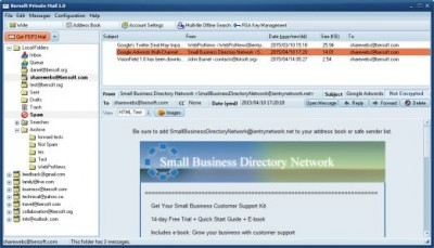 Bersoft Private Mail 1.05 screenshot