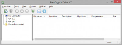 BestCrypt Container Encryption 9.05.1 screenshot