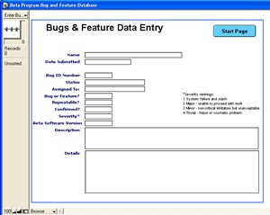 Beta Program Bug & Feature Database 1.0 screenshot