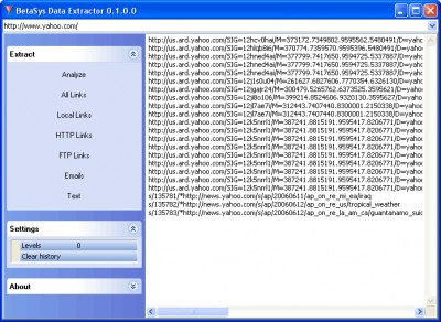 BetaSys Data Extractor 0.1 screenshot