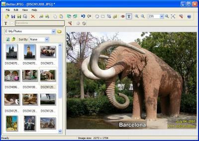 Better JPEG photo editor 2.0.0.9a screenshot