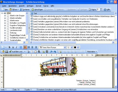 Beurteilungs-Manager 2.10 screenshot