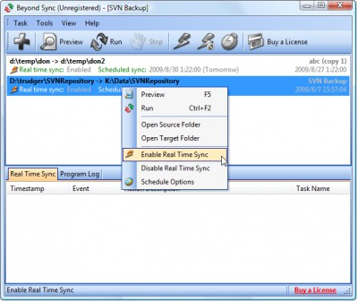 Beyond Sync 4.4.32 screenshot