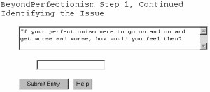 BeyondPerfectionism - Free Self-Counseling Softwar 2.10.04 screenshot