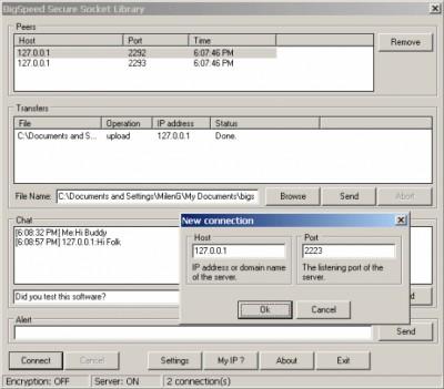 BIGSPEED Secure Socket Library 3.0 screenshot