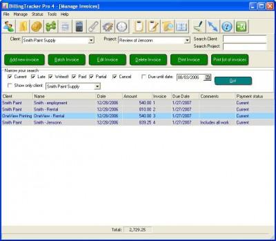 BillingTracker Pro Invoice Software 4.3.1 screenshot