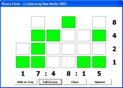 BinaryClock 1.0 screenshot