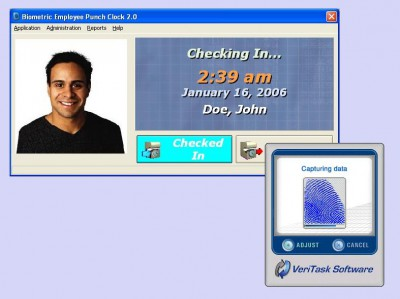 Biometric Employee Time Clock 4.0 screenshot