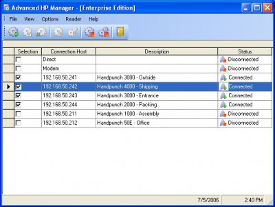 Biometric Handpunch Manager Professional 7.9.17 screenshot