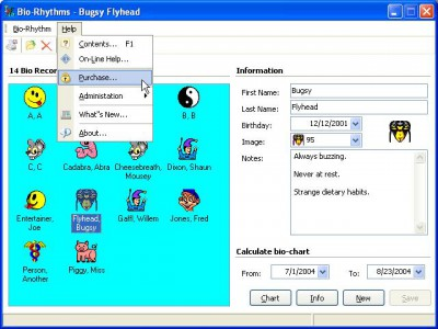 Biorhythms 5.1.0.3101 screenshot