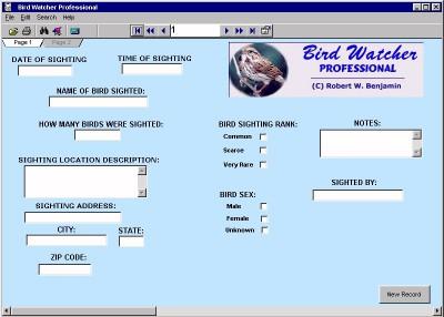 Bird Watcher Professional 11.0 screenshot
