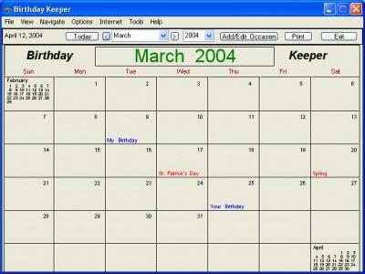 Birthday Keeper 7.0.3 screenshot