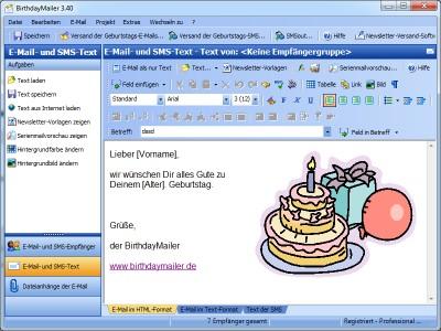 BirthdayMailer Standard 4.10 screenshot