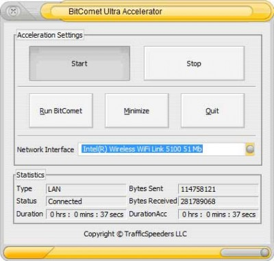 BitComet Ultra Accelerator 4.7.0 screenshot
