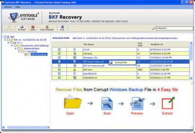 BKF Recovery Tool 6.0 screenshot