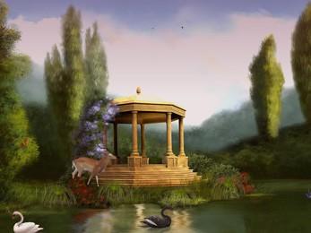 Black Swan Lake - 3D Screen Saver 5.07 screenshot