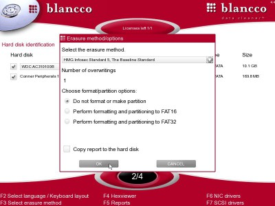 Blancco - Data Cleaner+ 4.6 screenshot