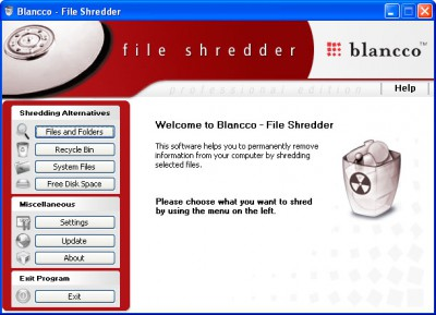 Blancco - File Shredder 2006 screenshot