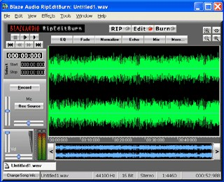 Blaze Audio RipEditBurn 2.3 screenshot
