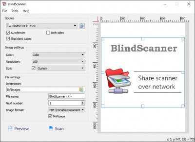 BlindScanner 4.6 screenshot