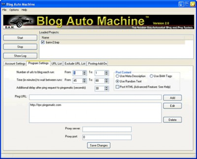 Blog Auto Machine 2.0 screenshot