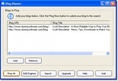 Blog Blaster 1.51 screenshot