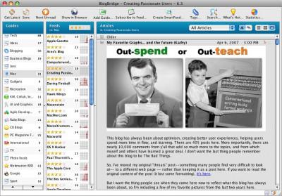 BlogBridge 6.3 screenshot
