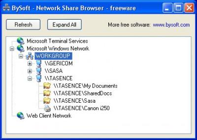 Blue Network Browser 1.8 screenshot